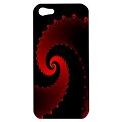 Red Fractal Spiral Apple iPhone 5 Hardshell Case