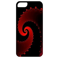 Red Fractal Spiral Apple iPhone 5 Classic Hardshell Case