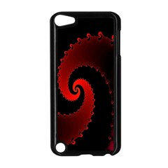 Red Fractal Spiral Apple iPod Touch 5 Case (Black)