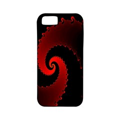 Red Fractal Spiral Apple iPhone 5 Classic Hardshell Case (PC+Silicone)
