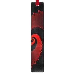 Red Fractal Spiral Large Book Marks