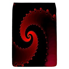 Red Fractal Spiral Flap Covers (S)
