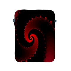 Red Fractal Spiral Apple iPad 2/3/4 Protective Soft Cases