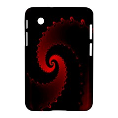 Red Fractal Spiral Samsung Galaxy Tab 2 (7 ) P3100 Hardshell Case