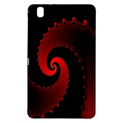 Red Fractal Spiral Samsung Galaxy Tab Pro 8.4 Hardshell Case