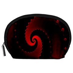 Red Fractal Spiral Accessory Pouches (Large)