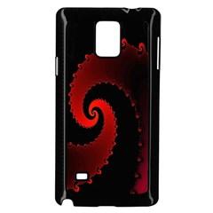 Red Fractal Spiral Samsung Galaxy Note 4 Case (Black)