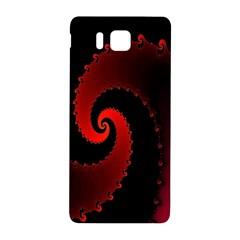Red Fractal Spiral Samsung Galaxy Alpha Hardshell Back Case