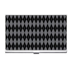 Chevron Wave Line Grey Black Triangle Business Card Holders