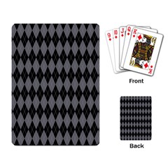 Chevron Wave Line Grey Black Triangle Playing Card
