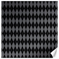 Chevron Wave Line Grey Black Triangle Canvas 16  x 16