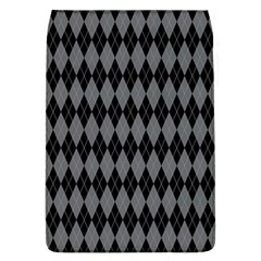 Chevron Wave Line Grey Black Triangle Flap Covers (L)