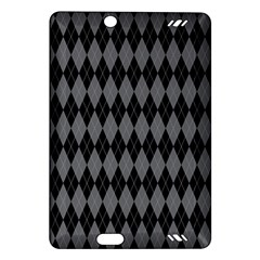Chevron Wave Line Grey Black Triangle Amazon Kindle Fire HD (2013) Hardshell Case