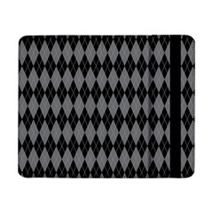 Chevron Wave Line Grey Black Triangle Samsung Galaxy Tab Pro 8 4  Flip Case