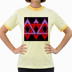 Star Of David Women s Fitted Ringer T-Shirts