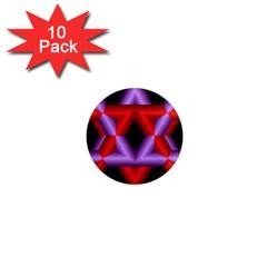 Star Of David 1  Mini Magnet (10 Pack)