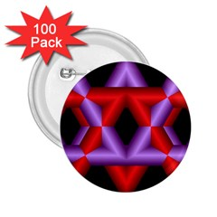 Star Of David 2 25  Buttons (100 Pack)