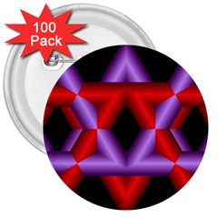 Star Of David 3  Buttons (100 pack)