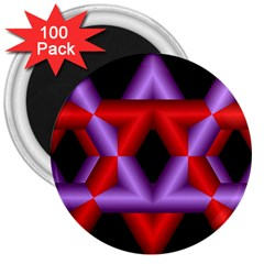 Star Of David 3  Magnets (100 Pack)