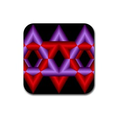 Star Of David Rubber Square Coaster (4 pack)