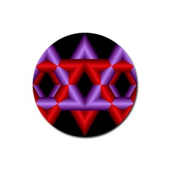 Star Of David Rubber Round Coaster (4 pack)