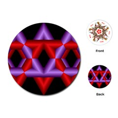 Star Of David Playing Cards (Round)