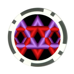 Star Of David Poker Chip Card Guard (10 Pack)