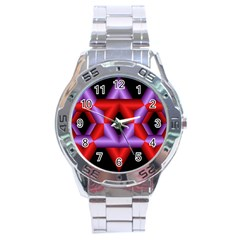 Star Of David Stainless Steel Analogue Watch