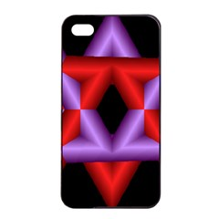 Star Of David Apple iPhone 4/4s Seamless Case (Black)