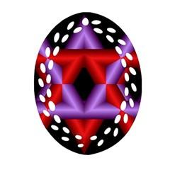 Star Of David Ornament (Oval Filigree)