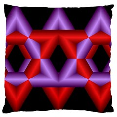 Star Of David Large Cushion Case (One Side)