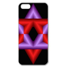Star Of David Apple Seamless iPhone 5 Case (Clear)