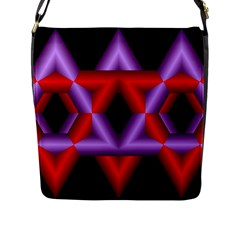 Star Of David Flap Messenger Bag (l)