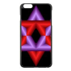 Star Of David Apple iPhone 6 Plus/6S Plus Black Enamel Case