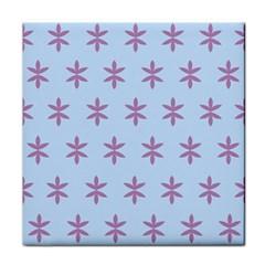 Flower Floral Different Colours Blue Purple Tile Coasters