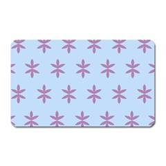 Flower Floral Different Colours Blue Purple Magnet (Rectangular)