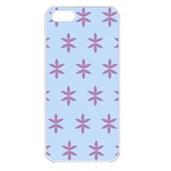 Flower Floral Different Colours Blue Purple Apple iPhone 5 Seamless Case (White)