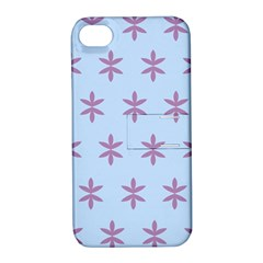 Flower Floral Different Colours Blue Purple Apple iPhone 4/4S Hardshell Case with Stand