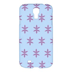 Flower Floral Different Colours Blue Purple Samsung Galaxy S4 I9500/I9505 Hardshell Case