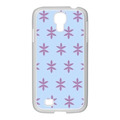 Flower Floral Different Colours Blue Purple Samsung GALAXY S4 I9500/ I9505 Case (White)
