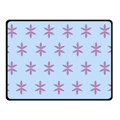 Flower Floral Different Colours Blue Purple Double Sided Fleece Blanket (Small)