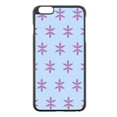 Flower Floral Different Colours Blue Purple Apple iPhone 6 Plus/6S Plus Black Enamel Case