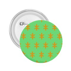 Flower Floral Different Colours Green Orange 2.25  Buttons