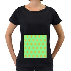 Flower Floral Different Colours Green Orange Women s Loose Fit T Shirt (black)