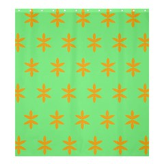 Flower Floral Different Colours Green Orange Shower Curtain 66  x 72  (Large)