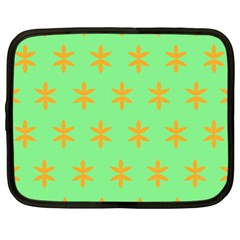 Flower Floral Different Colours Green Orange Netbook Case (XL)
