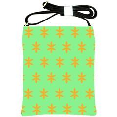 Flower Floral Different Colours Green Orange Shoulder Sling Bags