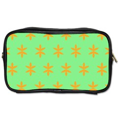 Flower Floral Different Colours Green Orange Toiletries Bags