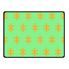 Flower Floral Different Colours Green Orange Fleece Blanket (Small)