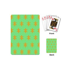 Flower Floral Different Colours Green Orange Playing Cards (Mini)